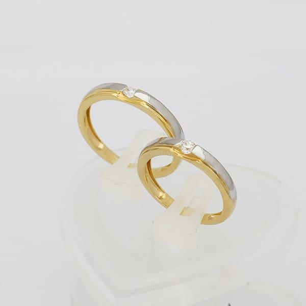 Nhẫn cưới kết hợp vàng trắng