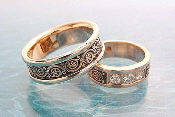 Mẫu nhẫn cưới hoa văn