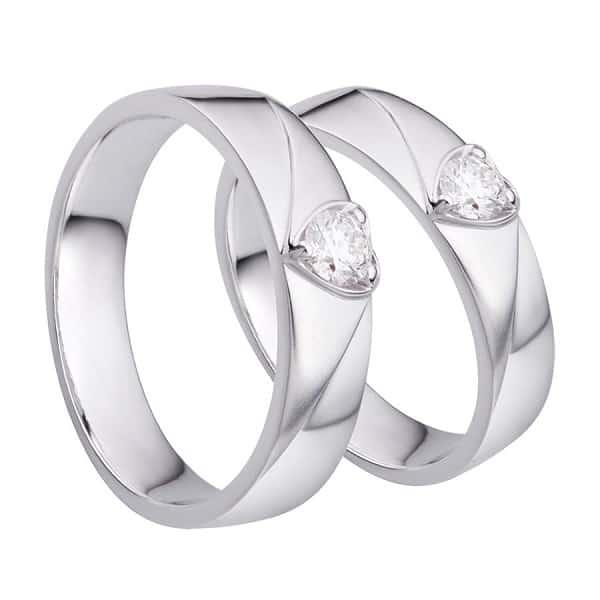 Cặp nhẫn vàng trắng spd1809420 hình trái tim