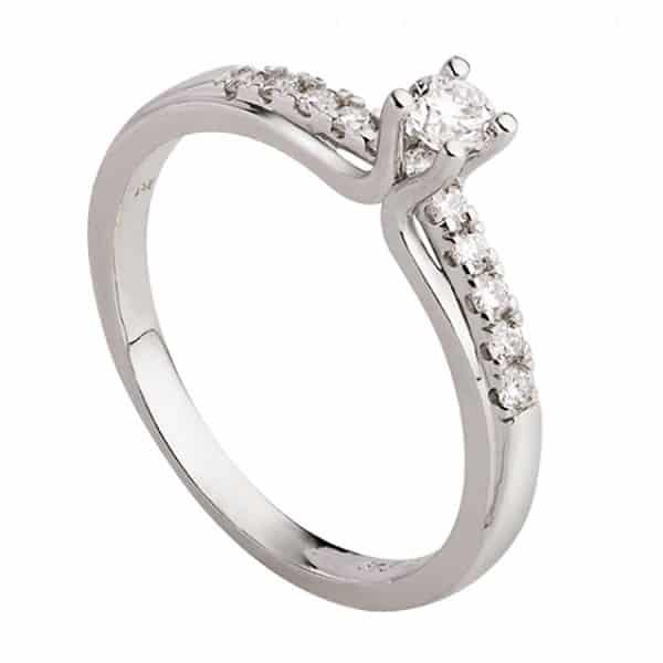 Nhẫn vàng trắng 18k đẹp chất lượng