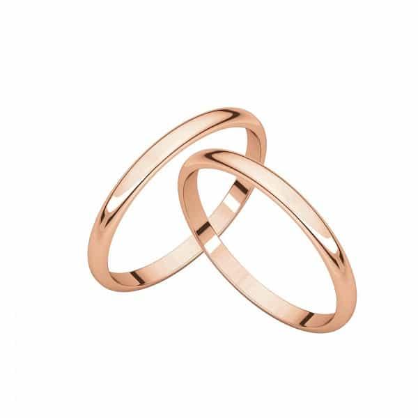 Đôi nhẫn cưới trơn truyền thống