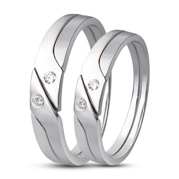 Mẫu nhẫn cưới vàng trắng