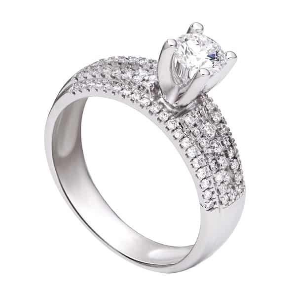 Nhẫn vàng trắng sang trọng