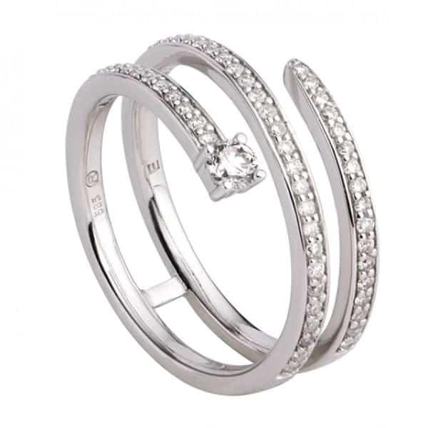 Nhẫn vàng trắng kiểu lạ