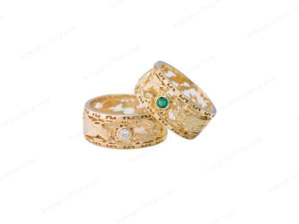 Mẫu nhẫn cưới hình rồng phượng