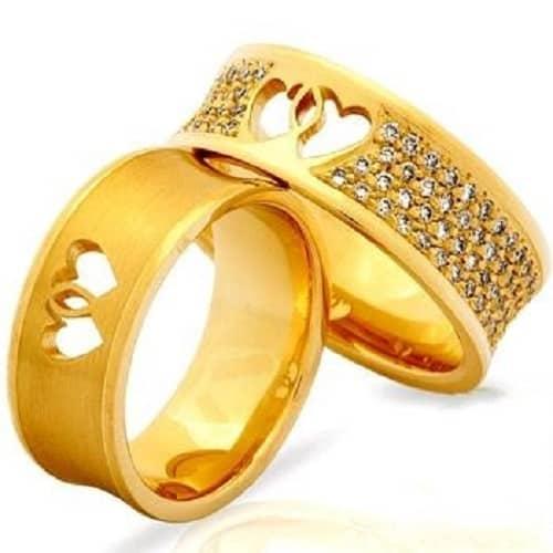 Nhẫn cưới độc đáo với trái tim lồng nhau