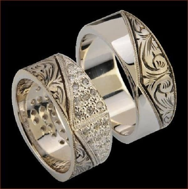 Mẫu nhẫn hoa văn đầy tinh tế