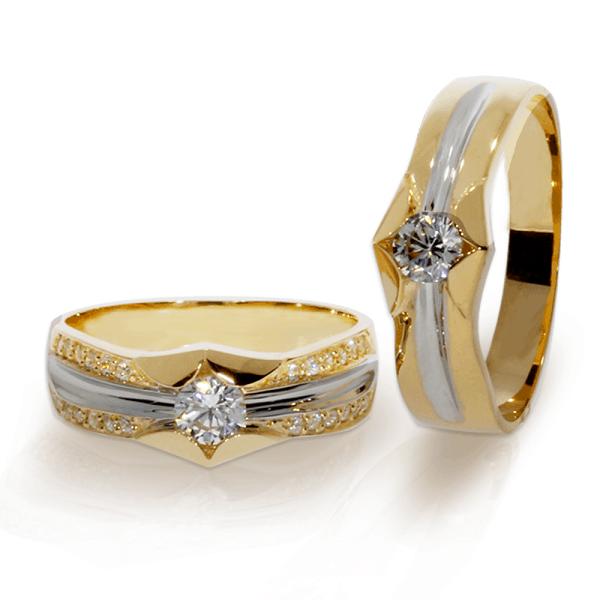 Nhẫn cưới đính đá được thiết kế cách điệu sang trọng