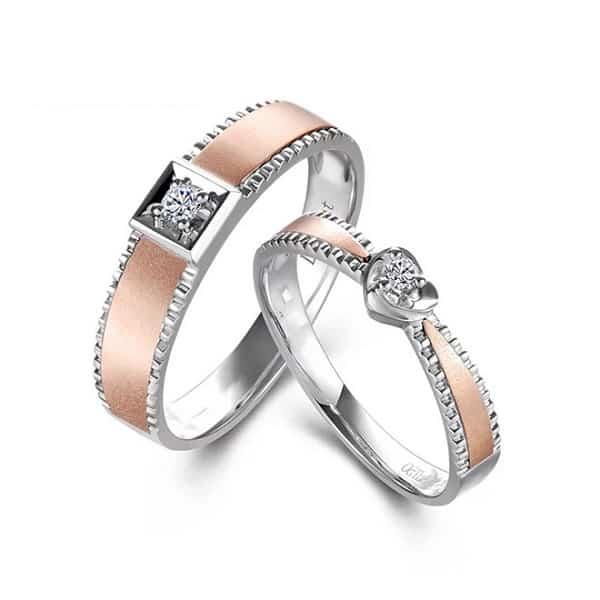 Nhẫn cưới họa tiết răng cưa vừa mới lạ vừa ấn tượng