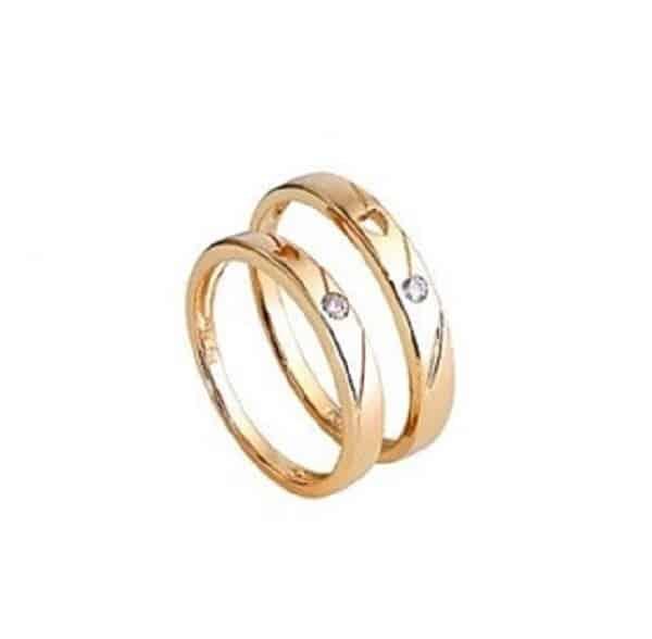 Mẫu nhẫn cưới hạnh phúc vàng