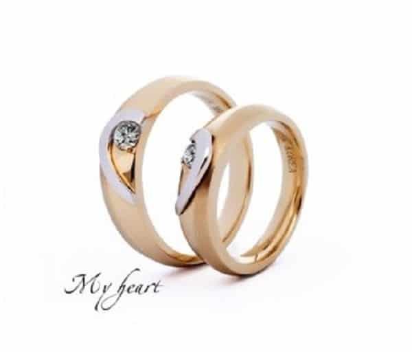 Mẫu nhẫn cưới My heart – Trái tim tôi