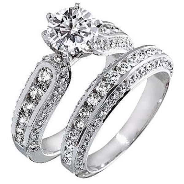 Mẫu nhẫn cưới kim cương sang trọng, quý phái