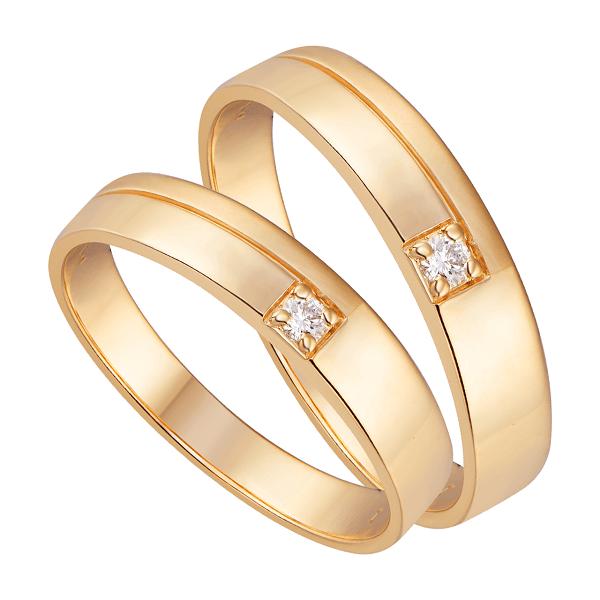 Kiểu nhẫn cưới bản vuông đính kim cương độc đáo