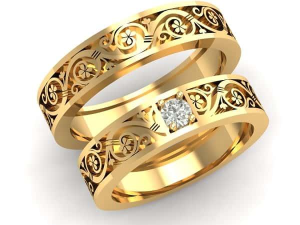 Mẫu nhẫn cưới hoa văn tinh tế
