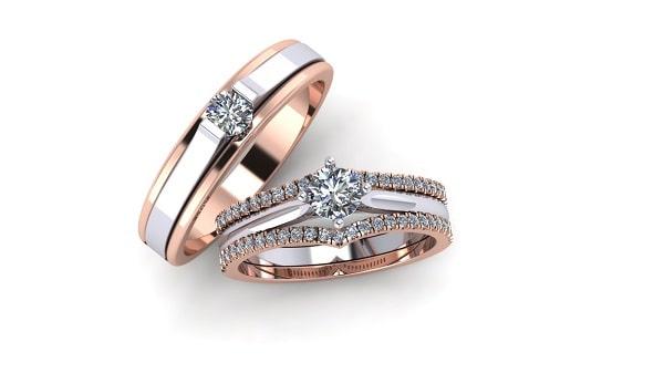 Nhẫn cưới phối màu độc đáo, ấn tượng