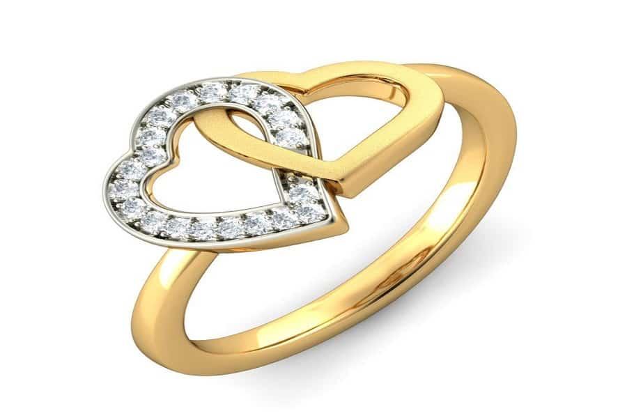 mẫu nhẫn cưới hình trái tim