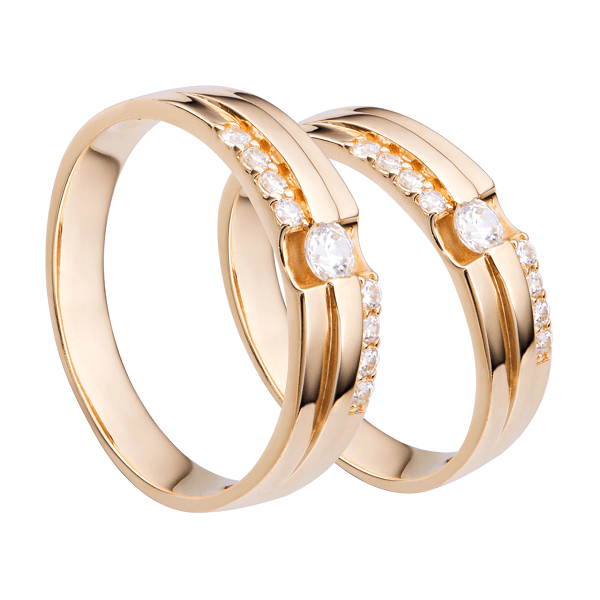 Nhẫn vàng ý đính hạt xoàn cao cấp cho các cặp đôi