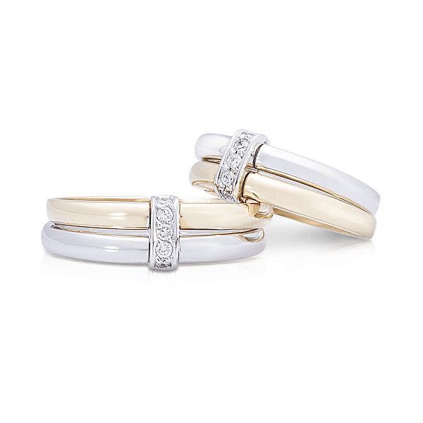 Mẫu nhẫn cưới vàng ghép đỉnh cao một trong những kiểu nhẫn cưới mới nhất