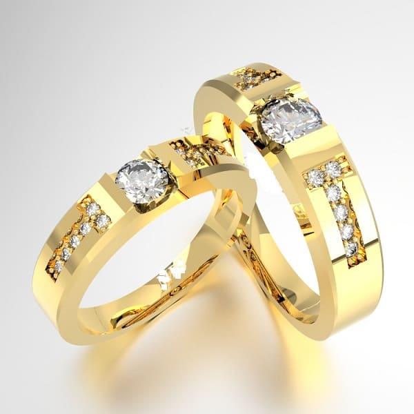 Mẫu nhẫn cưới đai nhẫn cách điệu