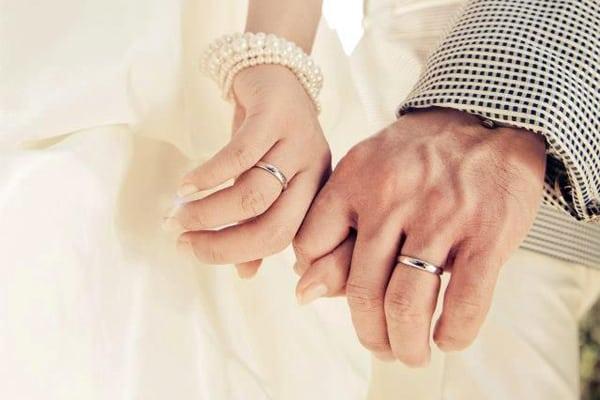 Nhẫn cưới vàng trắng đẹp quý phái