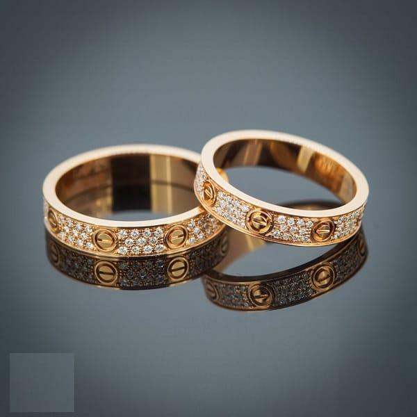 Nhẫn cưới vàng 18k độ bền lâu