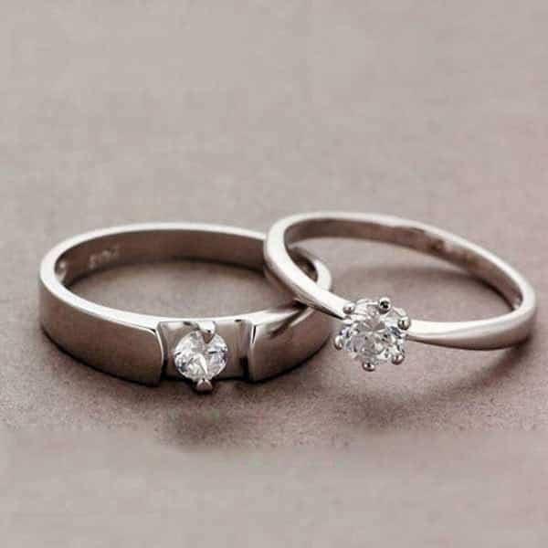 Mua nhẫn cưới ở đâu - nhẫn cưới vàng trắng