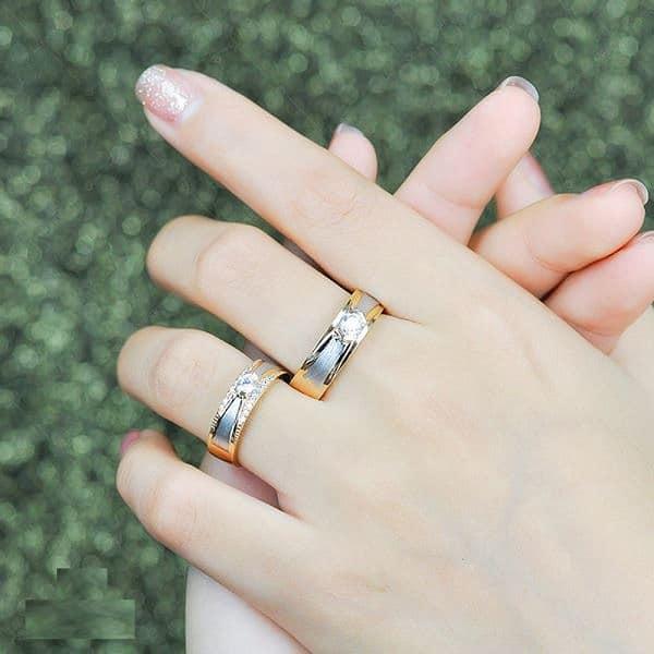 Xu hướng nhẫn cưới 2019 phối nhiều màu