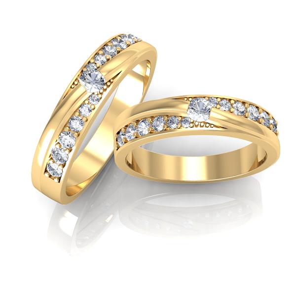 Mẫu nhẫn cưới đính đá quý một trong những đôi nhẫn cưới đẹp nhất 2019