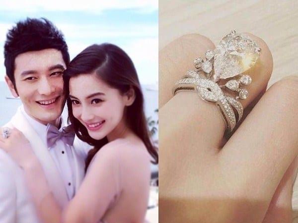Mẫu nhẫn cưới bạc tỷ của Huỳnh Hiểu Minh và Angela Baby