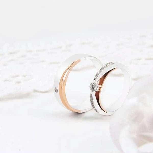 Những kiểu nhẫn cưới đẹp phối màu – sự lựa chọn số 1 cho các cặp uyên ương