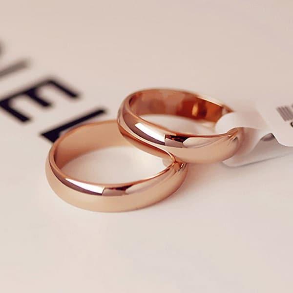 Xu hướng nhẫn cưới 2019 vàng hồng