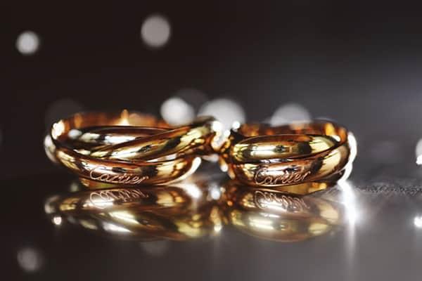 Cặp nhẫn cưới vàng 18k hoa lá cành