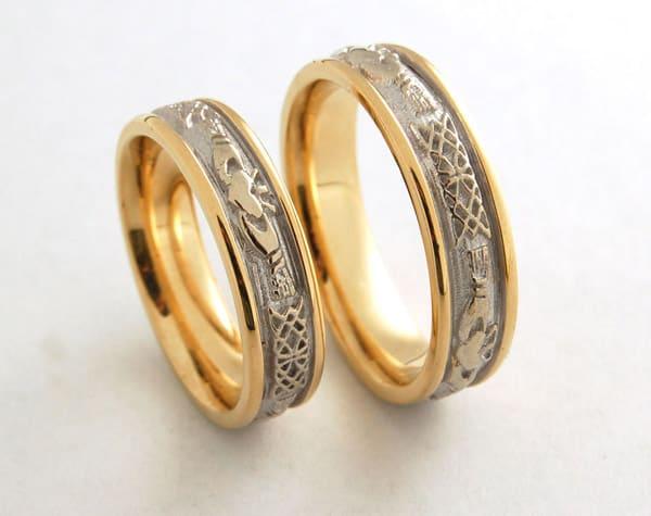 Xem ảnh nhẫn cưới hoa văn độc đáo